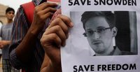 Snowden wants freedom of movement, says he is fine at Moscow airport. 50594.jpeg