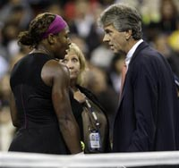 Serena Williams fined for screaming and shaking ball in judge's direction
