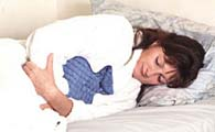 Heat halts stomach pain and other aches in the body