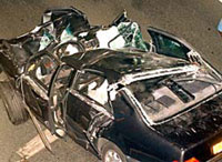 Pictures of Princess Diana taken at crash scene in Paris shown at court