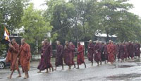 Myanmar celebrities support protesting monks