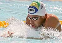 Swimmer Pereira doesn't like to be called phenomenon