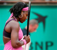 Serena Williams advanced to the quarterfinals of the Kremlin Cup