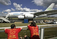 Farnborough International Airshow opens on London outskirts
