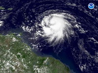 Atlantic water temperatures connected with hurricane activity