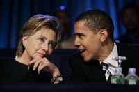 Hillary Clinton and Barack Obama fight over Iraq war