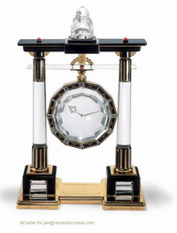 Cartier clock to be sold at auction