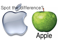 Apple struggling for apple