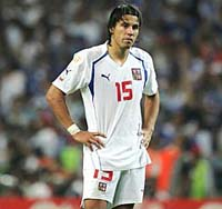 Czech football team loses its Milan Baros for 2008 championship