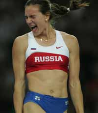 Isinbayeva wins pole vault - no surprise