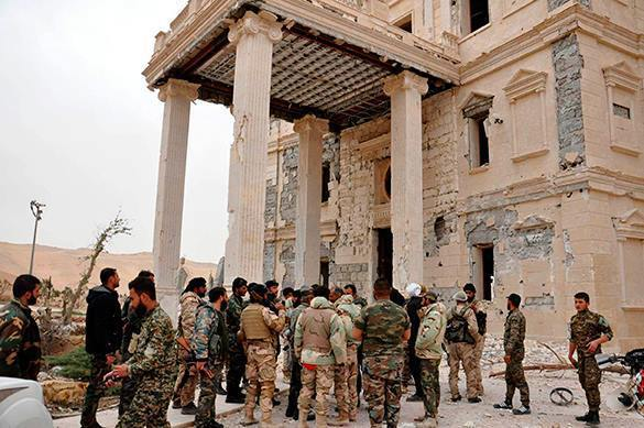 The West unwilling to acknowledge Russia's success in liberating Palmyra. 57645.jpeg