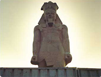 Statue of Pharaoh Ramses II moves to its new home