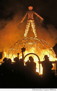 Police detain man for burning effigy at Burning Man festival