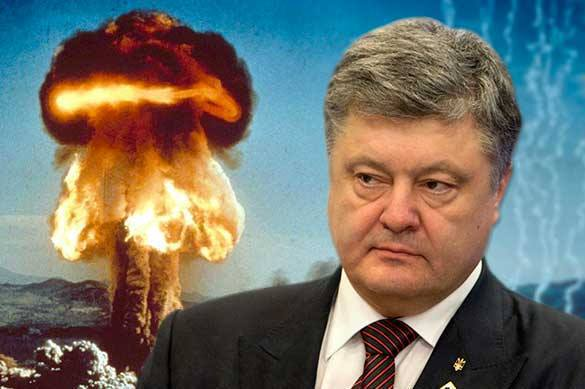 Ukraine's Poroshenko to intimidate Americans with Russian nuclear weapons. 57659.jpeg