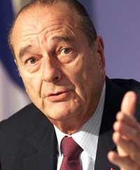 Jacques Chirac declaresns can make no concession to Iran on nonproliferation rules