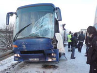 Bus accident kills 3 Hungarian soccer fans