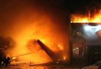 Twin-engine plane falls down in North Carolina