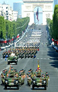 Indian & French Troops Take Part in Bastille Day Parade