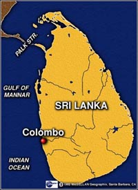 Sri Lanka mine blasts kill 3 government forces
