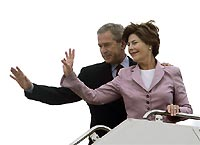 George and Laura Bush spend Wednesday in New Orleans