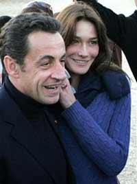 Too much love and no politics for French President Nicolas Sarkozy