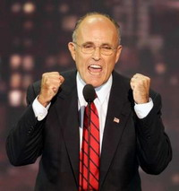 Rudy Giuliani stands for Clinton's health care plan