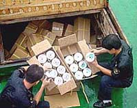 Chinese officials seize 1.64 million pirated discs, arrest two suspects