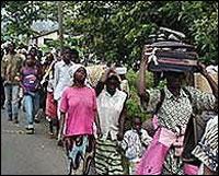 Congolese flee U.N. camps in Congo