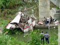 Bus collides with train in northern India; 18 people killed