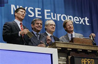 NYSE Euronext reports rise in earnings