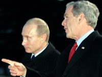 Putin and Bush start exchanging scathing remarks again