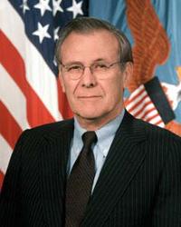 Rumsfeld challenged about Iraq