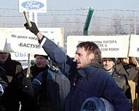 Employees at Ford assembly plant in Russia resume work pending further talks