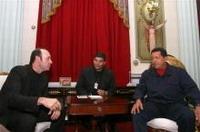 Kevin Spacey visits Hugo Chavez