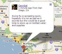 Google Knows Swine Flu Location