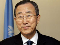 U.N. Secretary-General urges USA to take the lead in combating global warming
