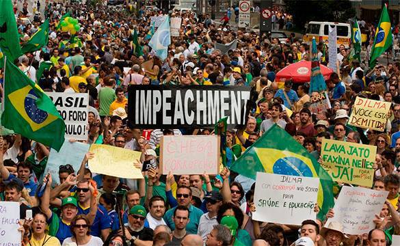 CIA, FBI, NSA and all the king's men work to topple Brazilian President Rousseff. Protests in Brazil
