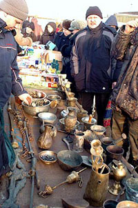 Russian flea markets enjoy great popularity