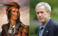 George W. Bush may not live up to his mandate end due to Tecumseh's curse