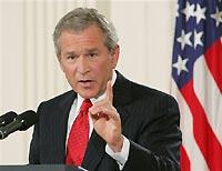 George W. Bush meets Afghan President Hamid Karzai