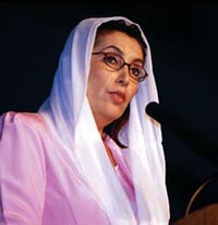 Bhutto to continue going to masses