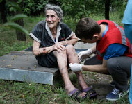 Hundred-year-old woman from Donetsk loses her leg after shelling. 53754.jpeg