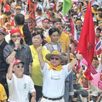 Thai opposition celebrates victory after Thaksin steps down