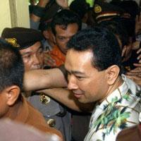 Imprisoned son of former Indonesian dictator leaves prison cell
