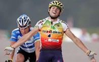 Alejandro Valverde wins seventh stage of Vuelta, Janez Brajkovic overall leader