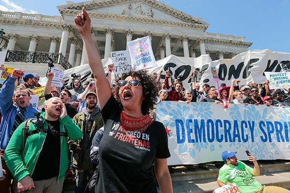 US police disperses rally for fair elections, 400 arrested. USA