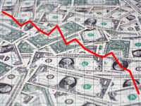 Dollar Falls Down as Index of Premature Risk