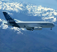 A380 superjumbo delivered by Airbus