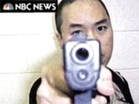 Gunman sends videos, writings and photographs to a US television network