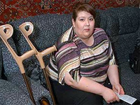Russian woman receives record compensation for amputated leg